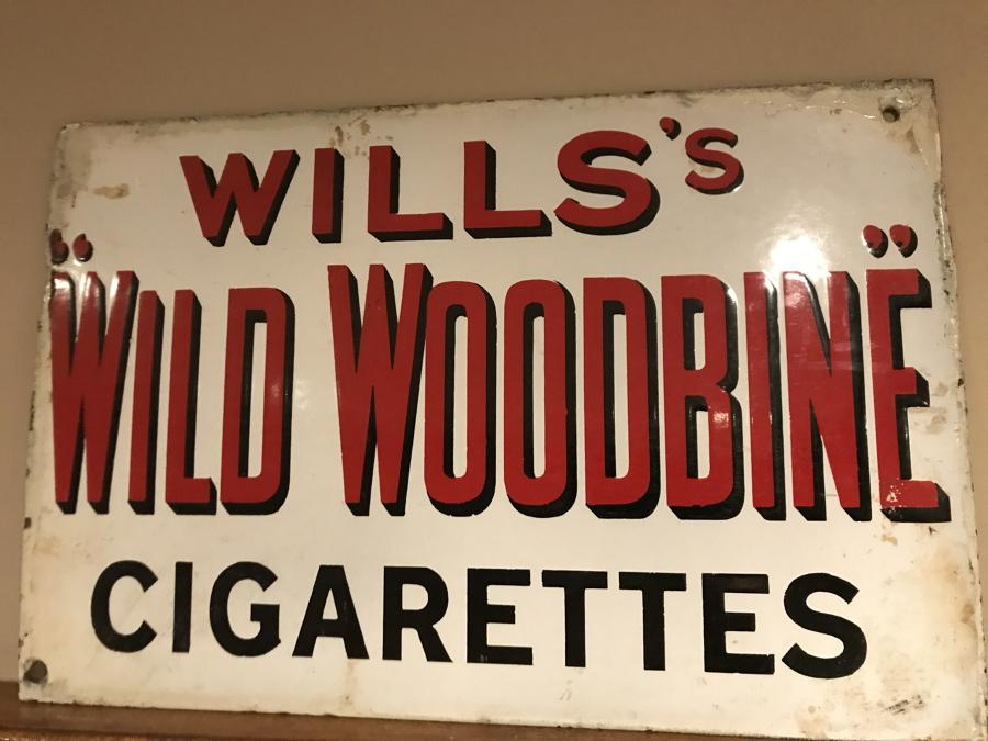 WILL'S Enamel WILD WOODBINE sign