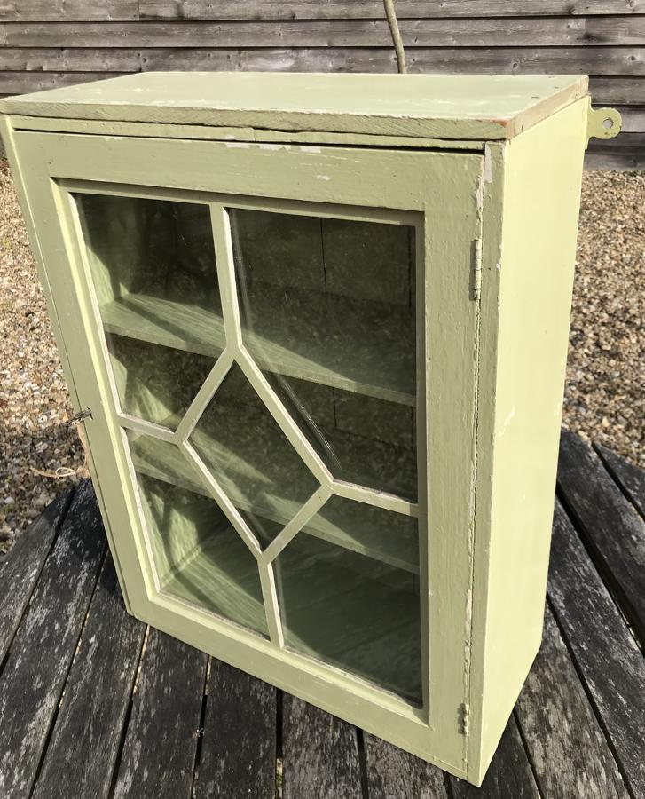 Vintage Green Painted Bathroom Cabinet