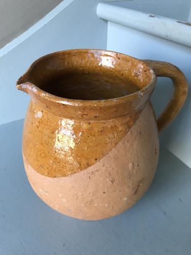 Antique 'Golden' pottery Jug