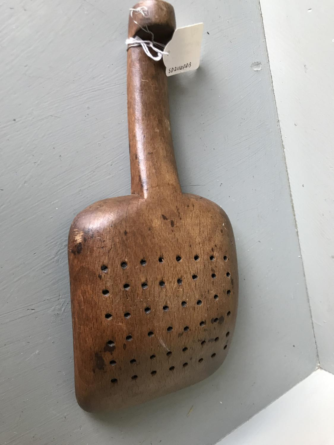 Antique Cheese Maker's Straining Spoon