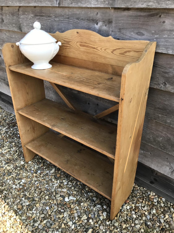 Antique Pine Bookcase Shelves