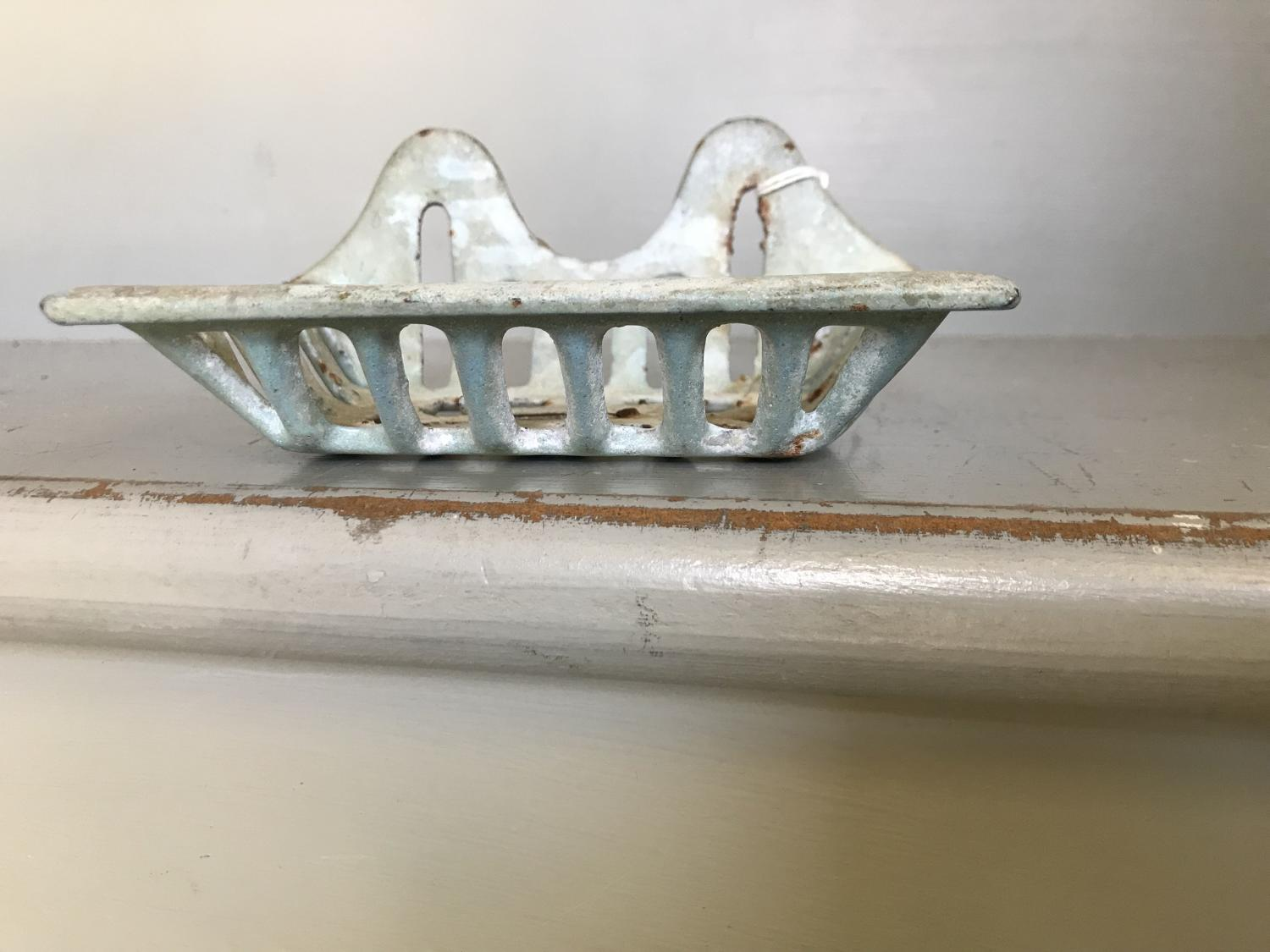 Old Enamel Soap Dish