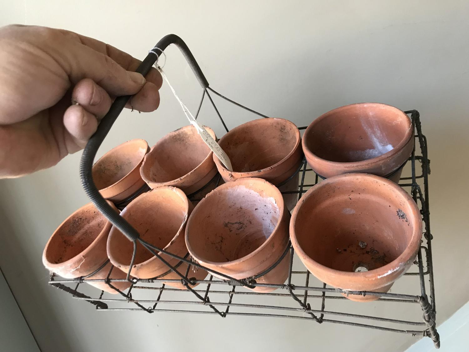 Wirework Rack of pots