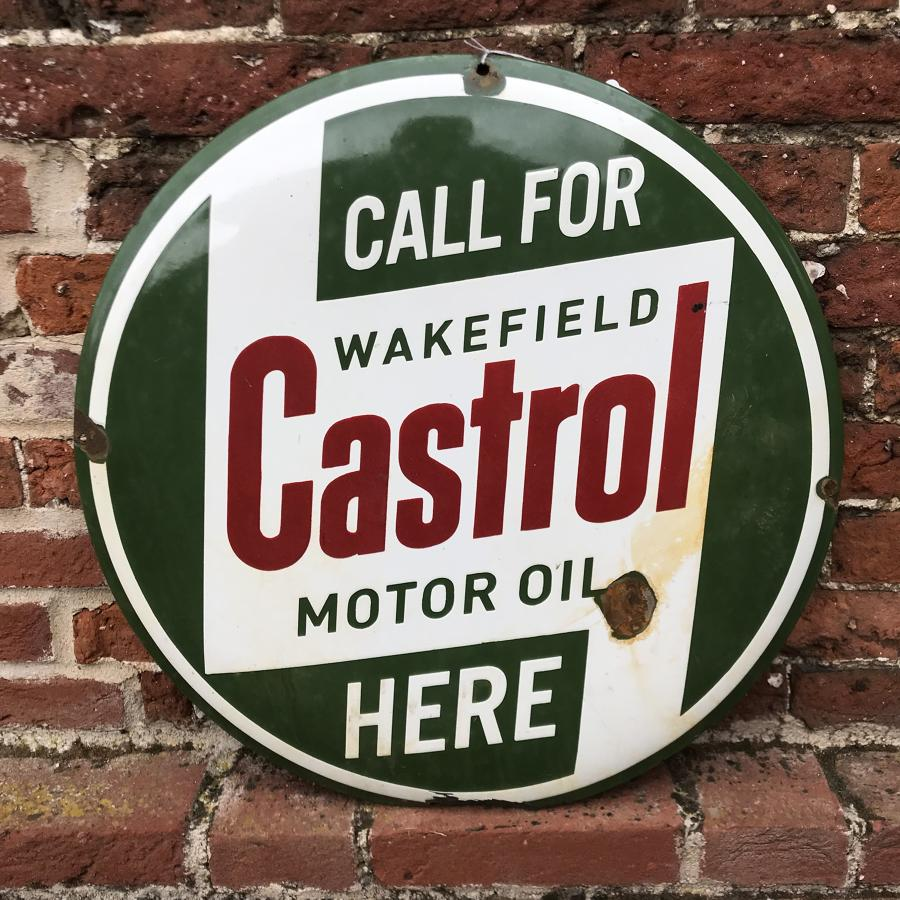 Vintage Enamel Castrol Motor Oil Sign