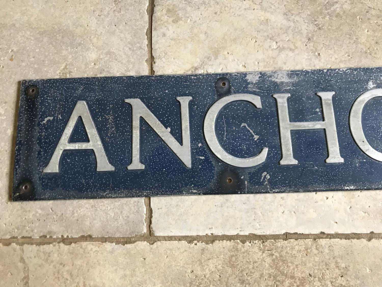 Vintage Road Sign ANCHOR LANE