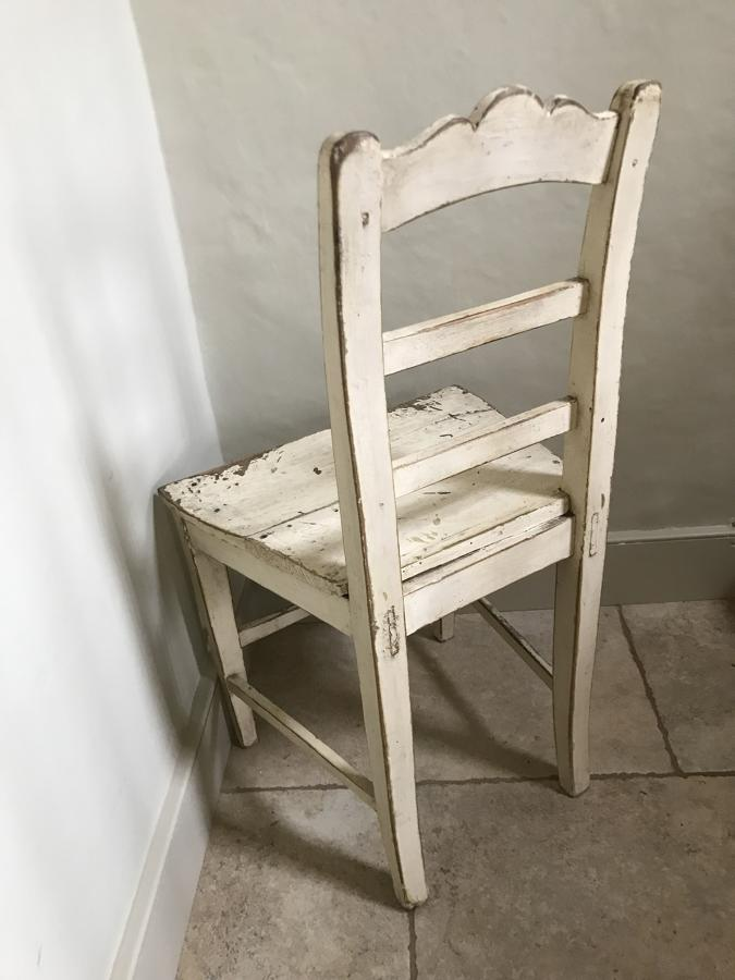 Antique Country Plank Chair