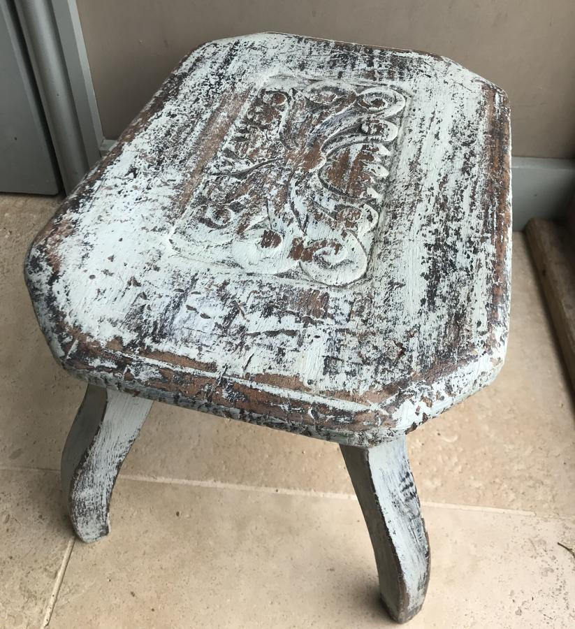Country Stool with decorative top