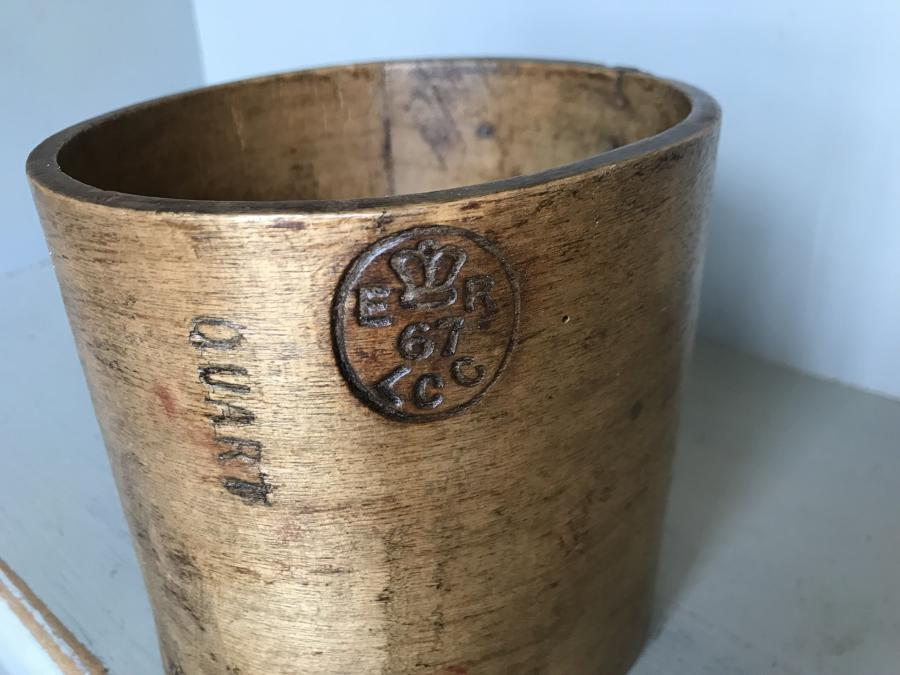 1 Quart Edwardian Grain Measure