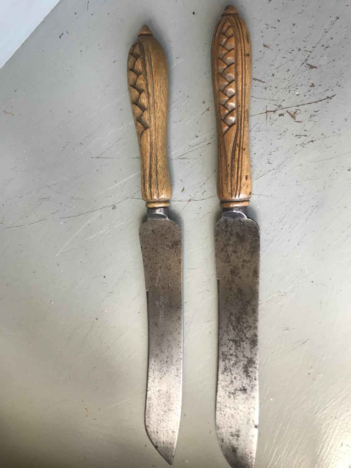 Carved Bread Knives