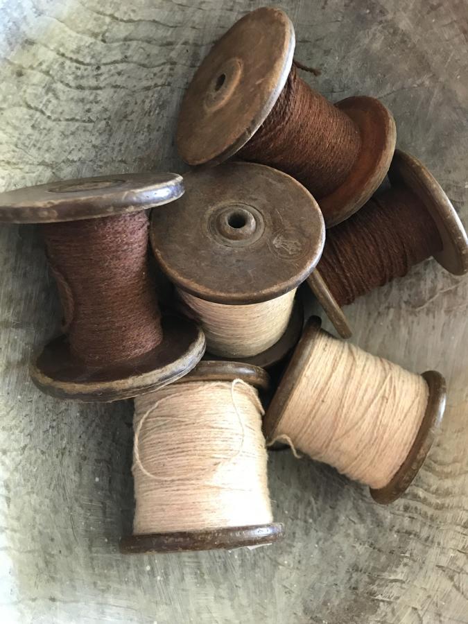 Antique Spools of Yarn