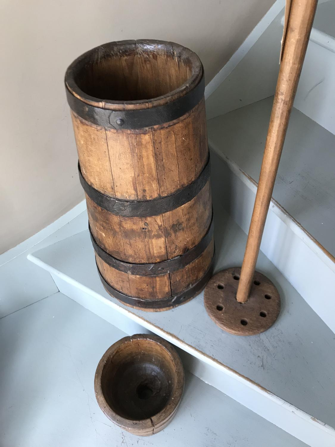 Antique Plunger Butter churn