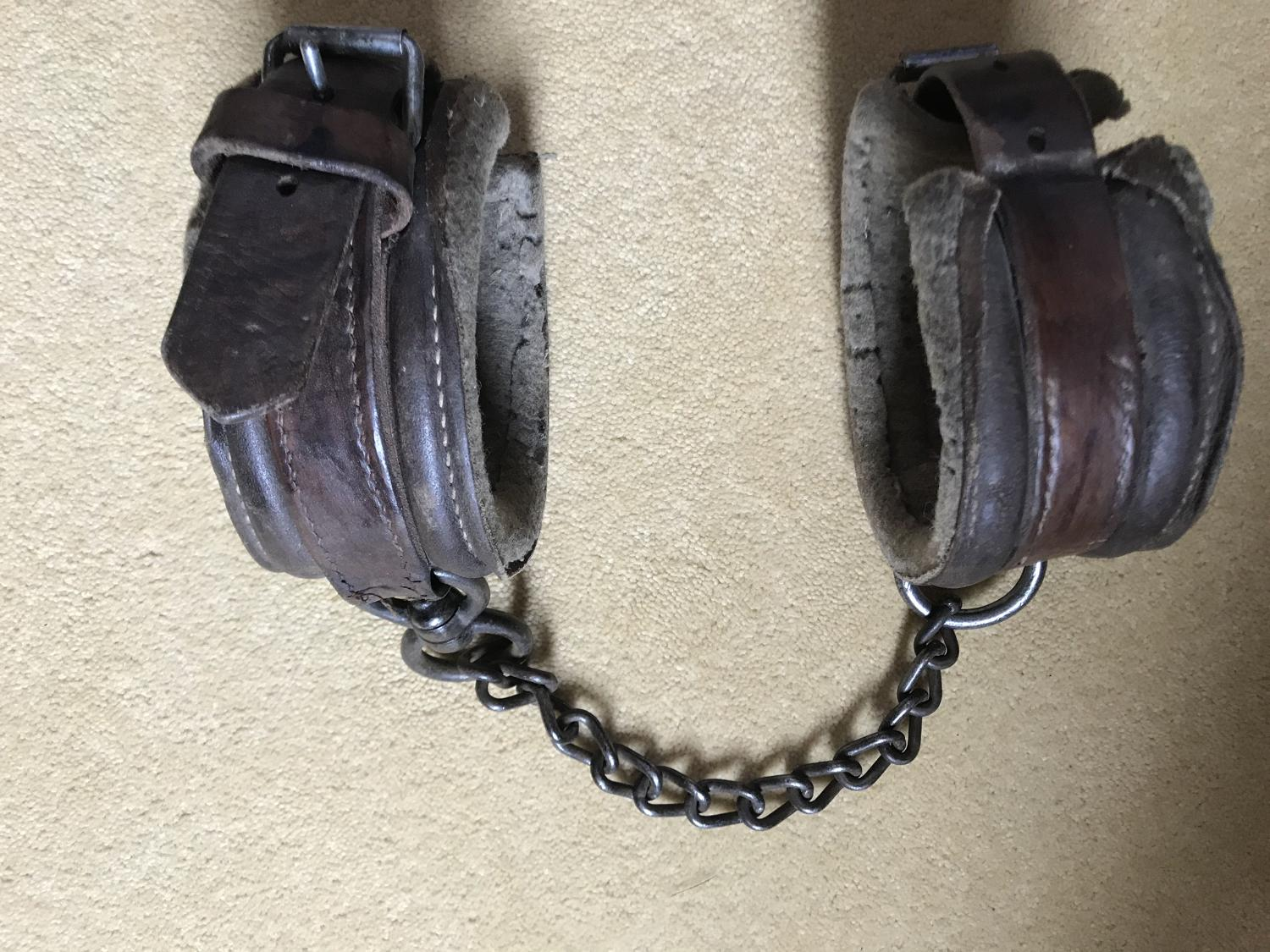 Antique Farrier's Horse Shackles