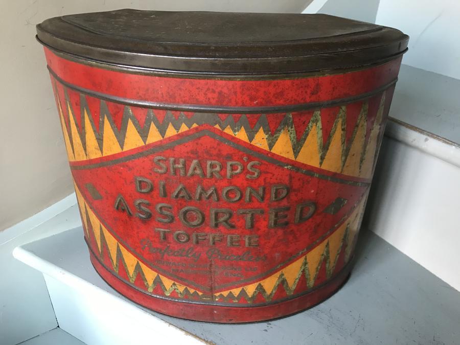 Shop Size Sharp's Diamond Toffee Tin