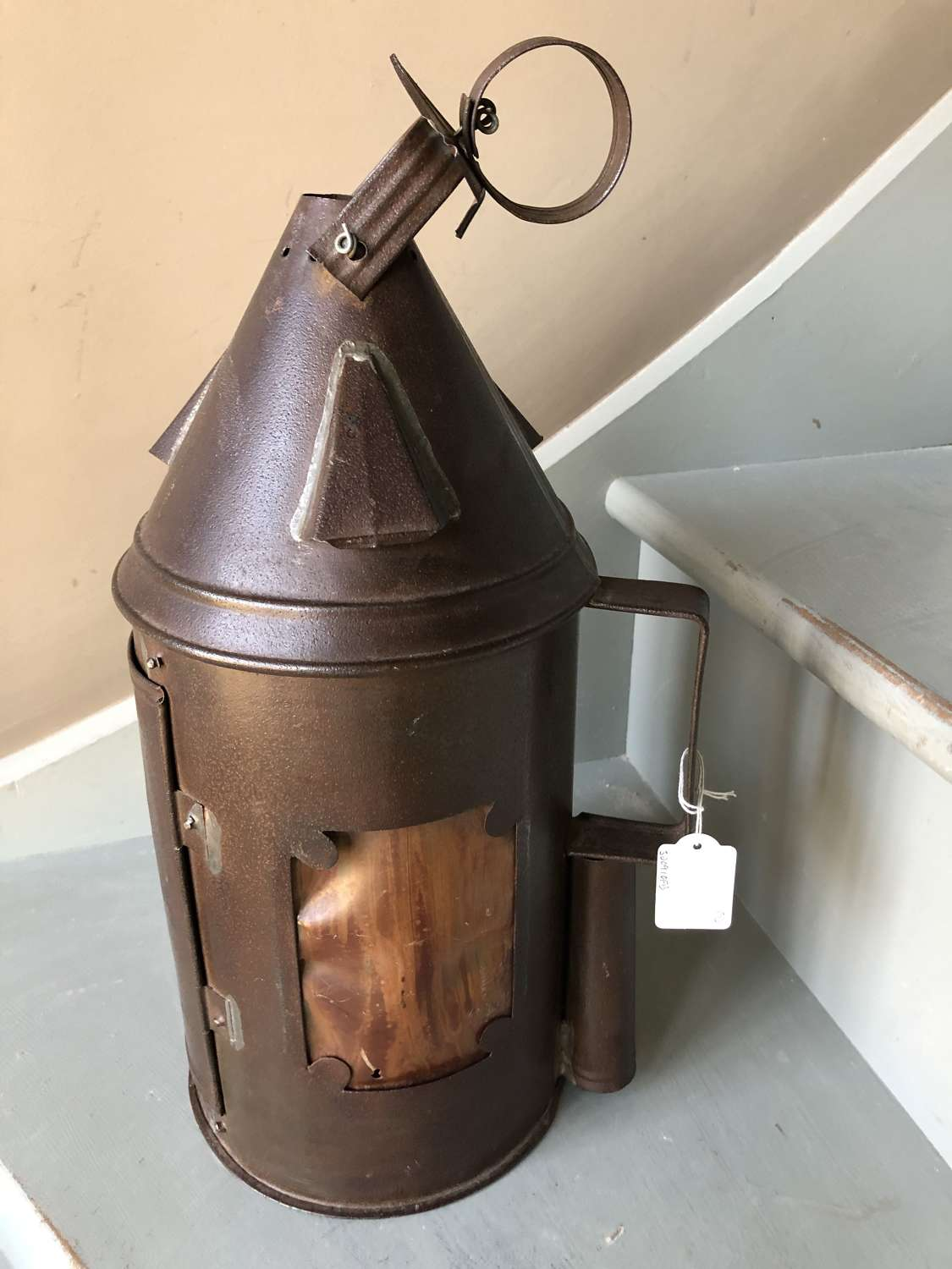 Large 19th Cent Horn Lantern