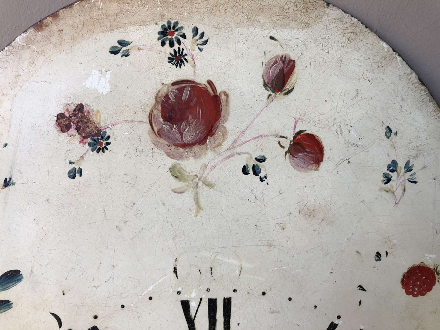 Late 18th Cent Clock face with roses
