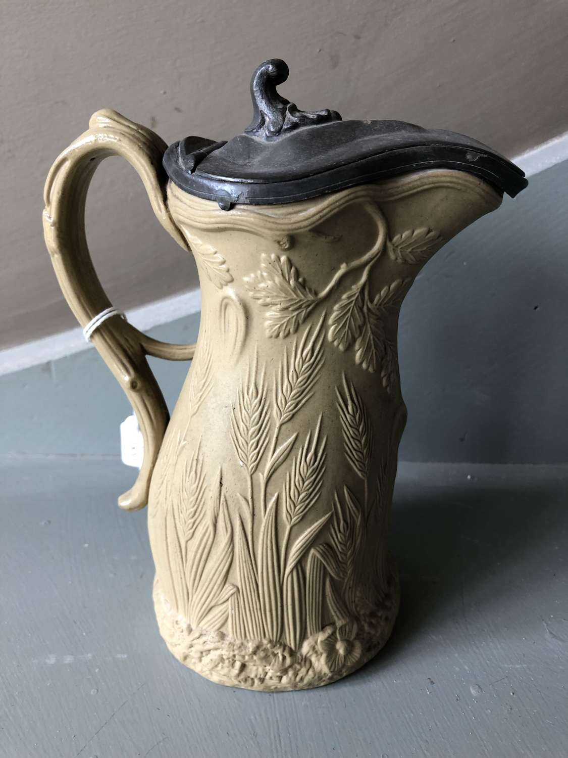 19th Cent Drabware jug Edward Walley Cobridge Staffs