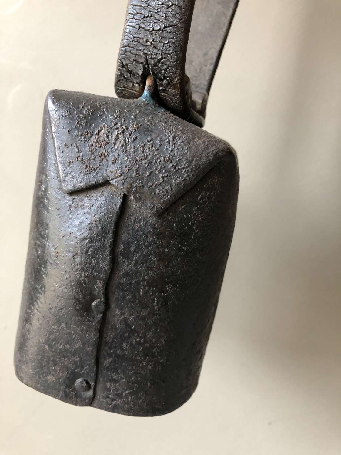 19th Cent Sussex Square Canister Sheep Bell