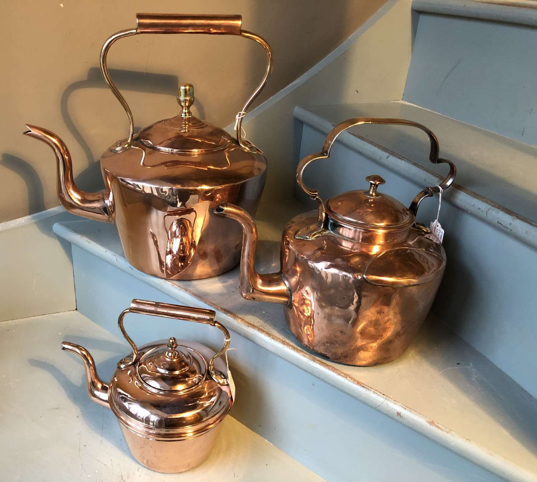 HUGE Victorian Copper Kettle