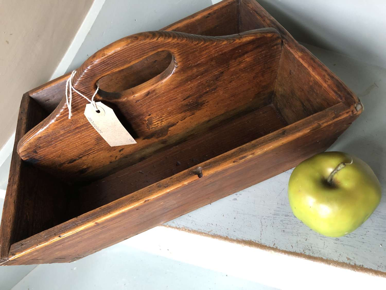 Early Pine Cutlery Box