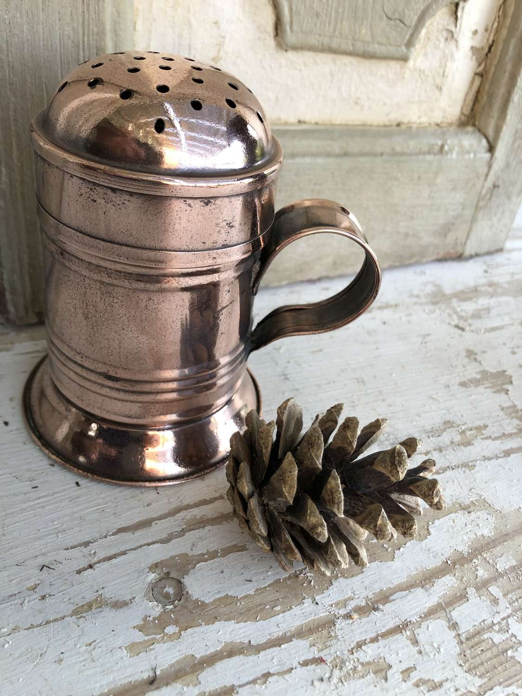 Antique Copper Flour Dredger