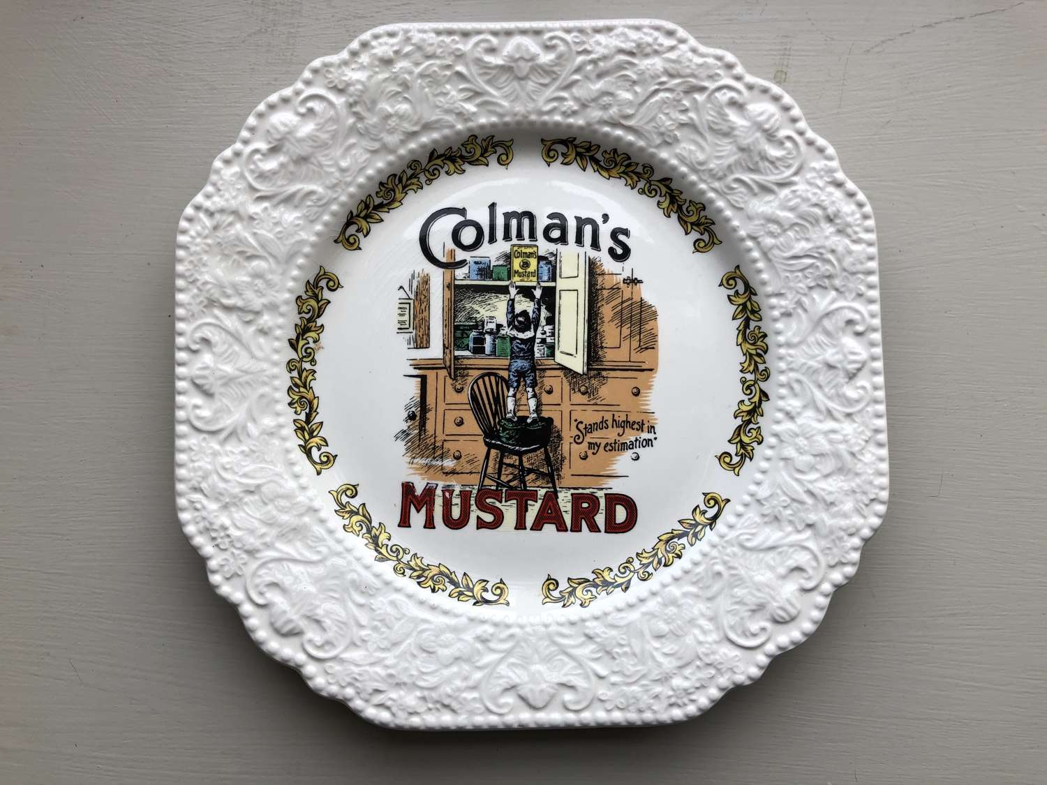 Colmmans Advertising Plate