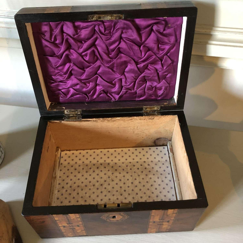 Victorian Inlaid Jewellry Box