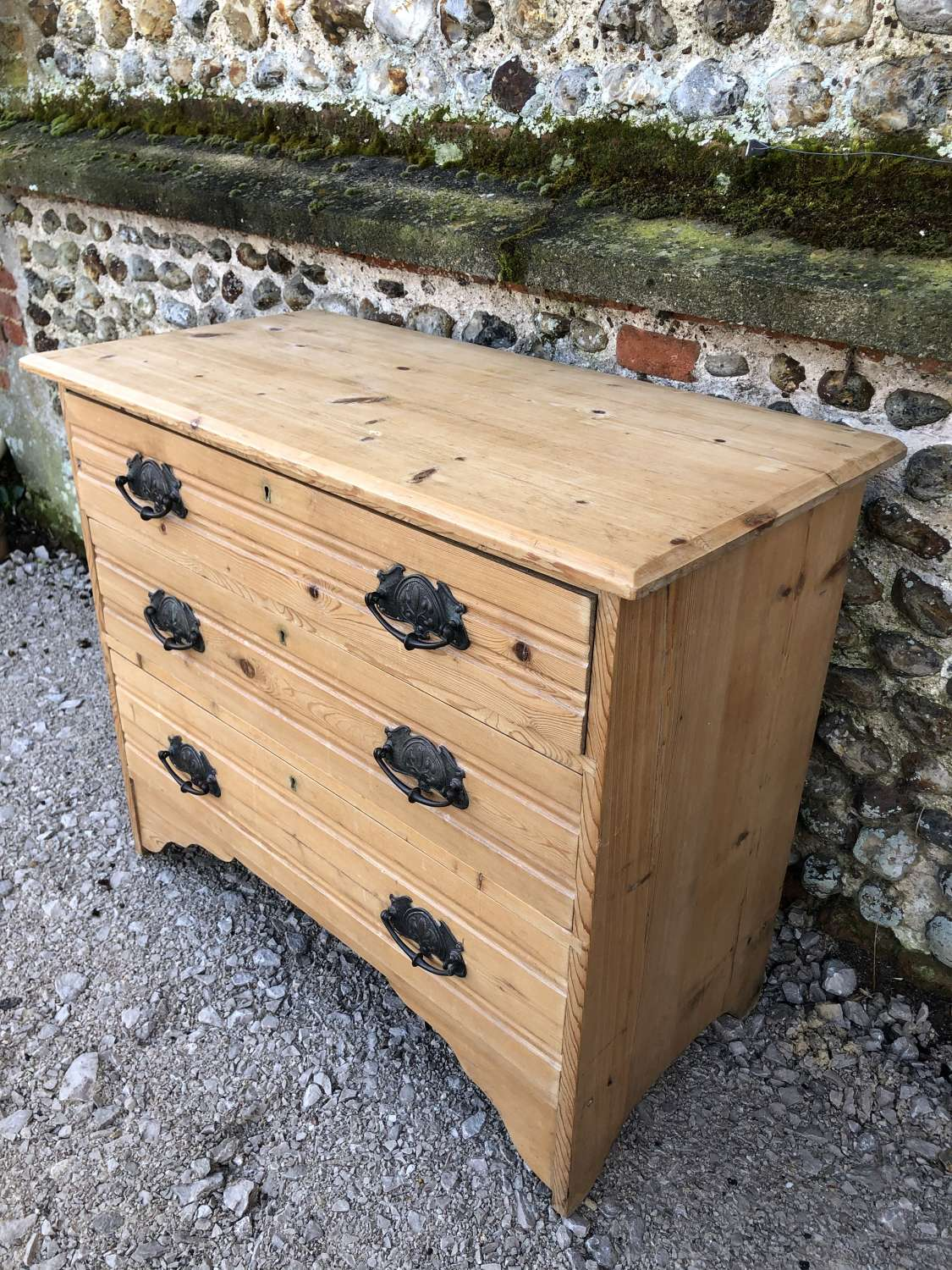 Antique Small size Pine Chest of Drawers