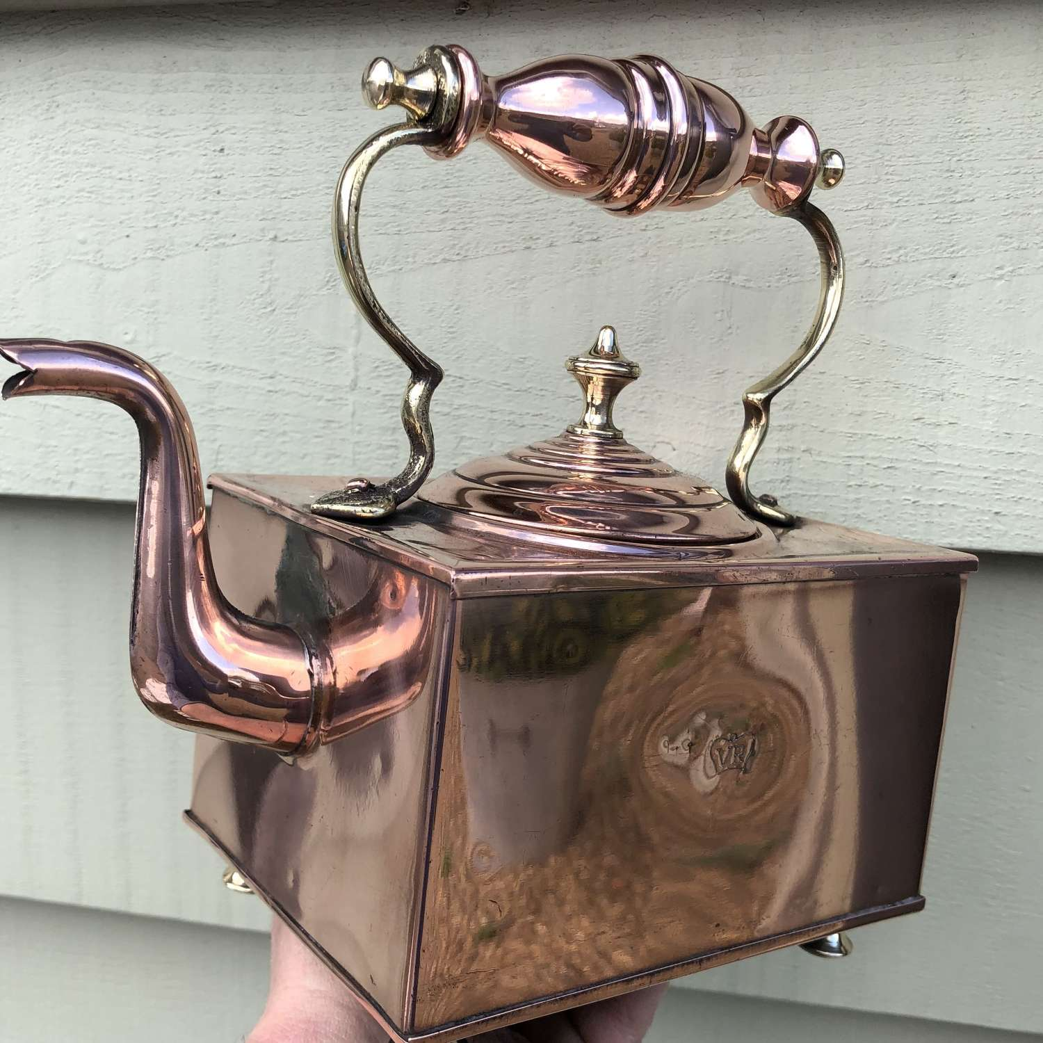 Victorian Square Copper Kettle