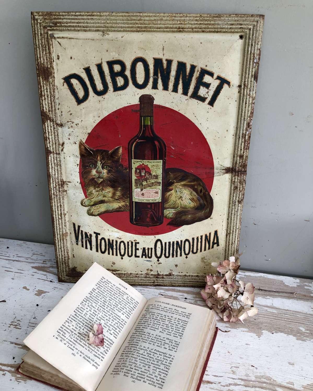Vintage Tin DUBONNET ADVERTISMENT