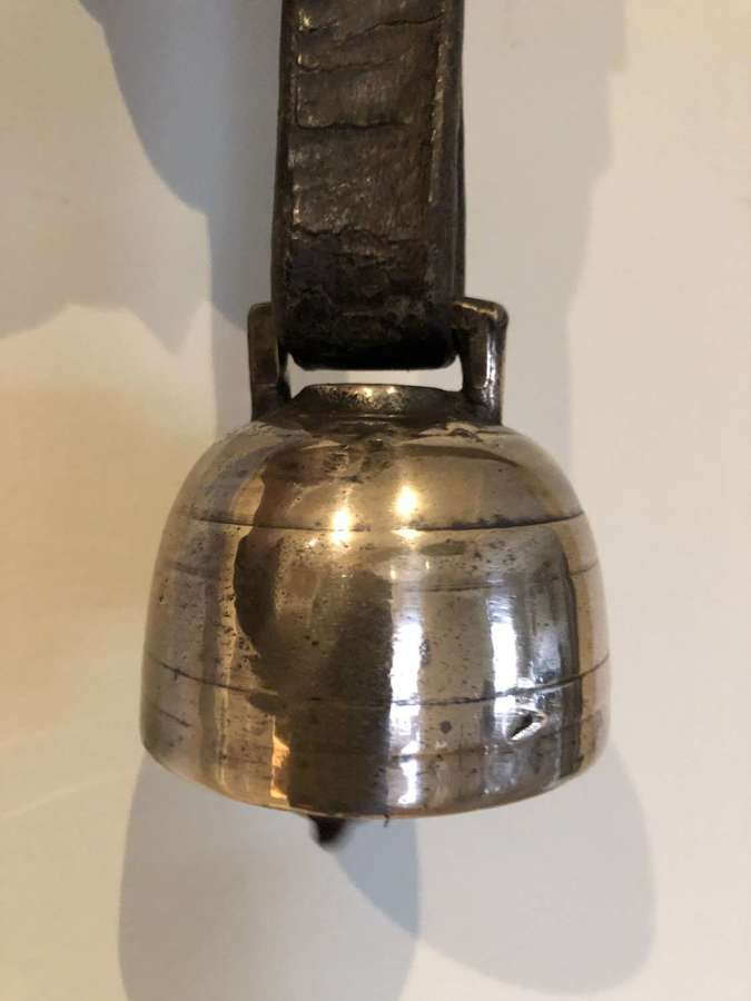 18th/19th Cent Shepherd's Cup Bell on Strap (1)