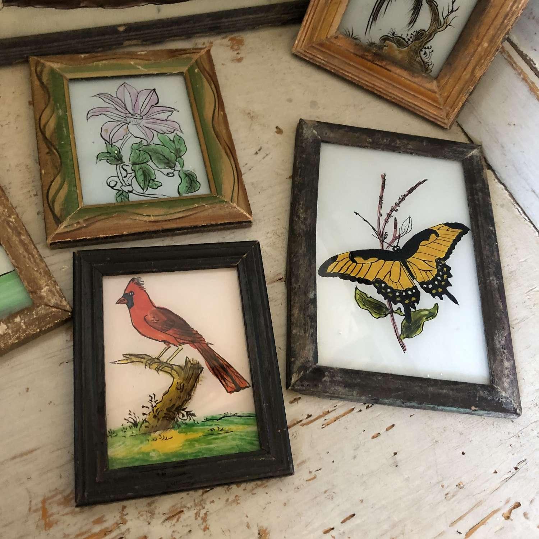Vintage Glass Paintings