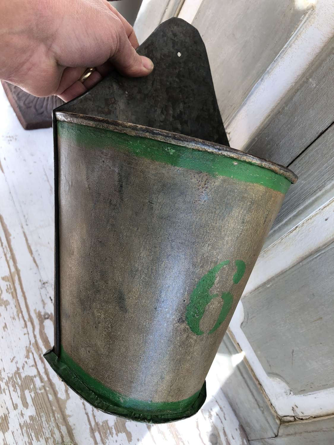 Vintage Flower Seller's Wall Bucket