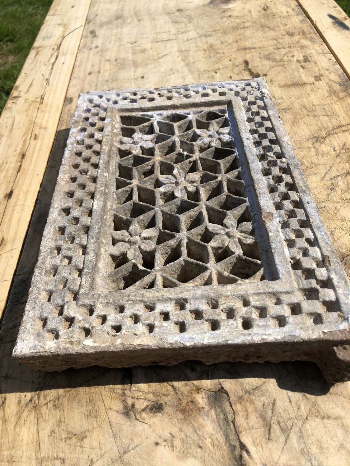 19th Cent Carved Stone House Vent