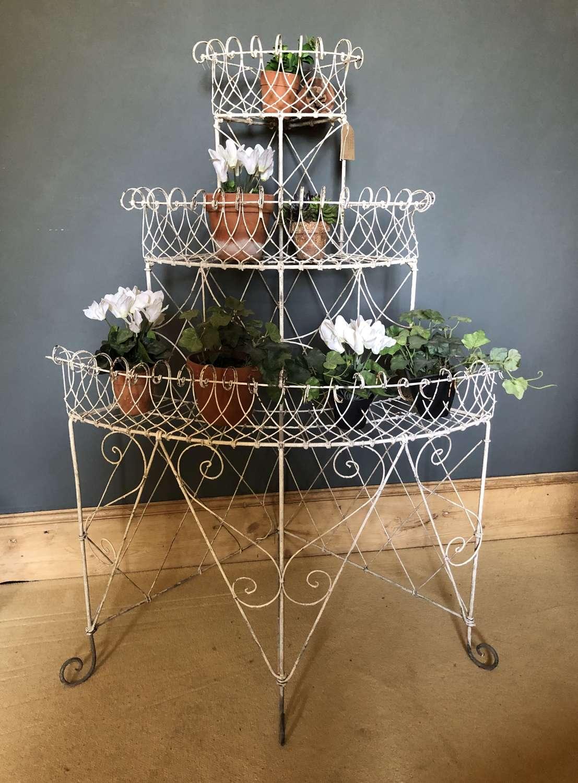 Victorian 3 tier Wirework Plant stand