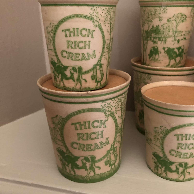 Vintage Cream Pots