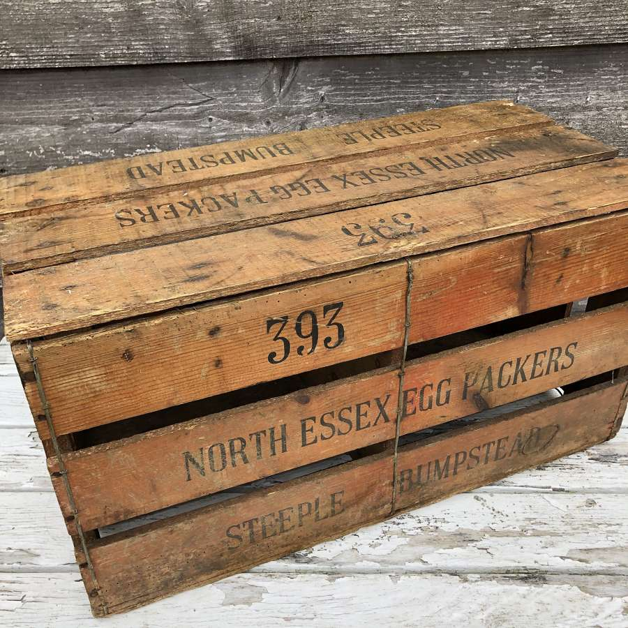 Vintage Egg Packer's Crate
