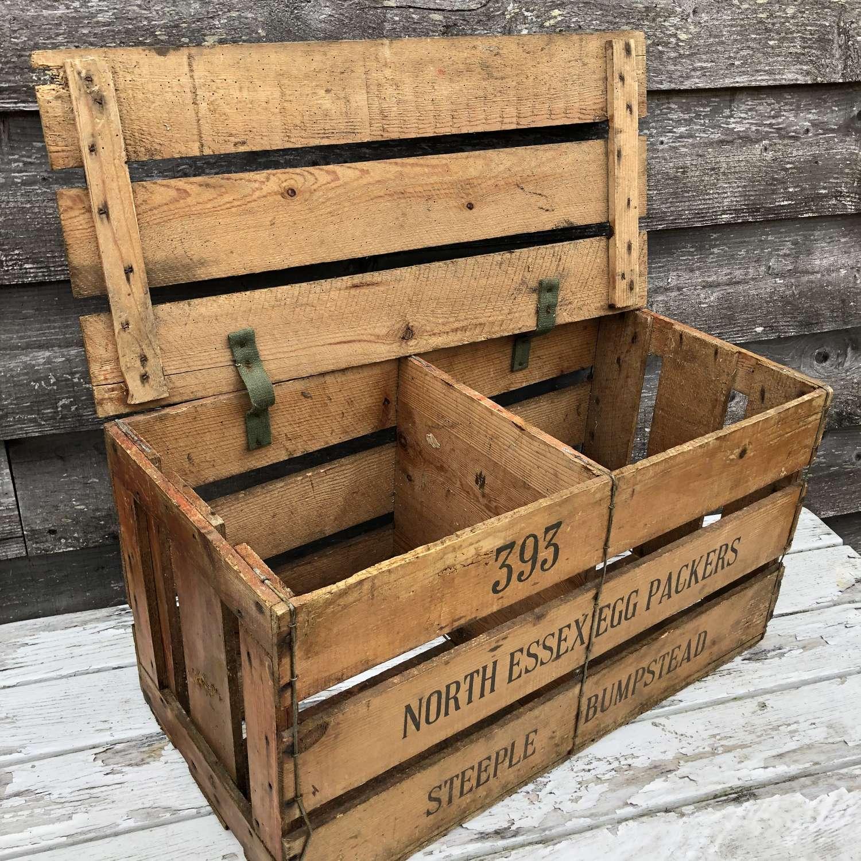 Vintage Egg Packer's Crate