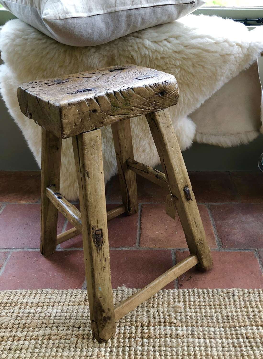Tall Elm Country Stool