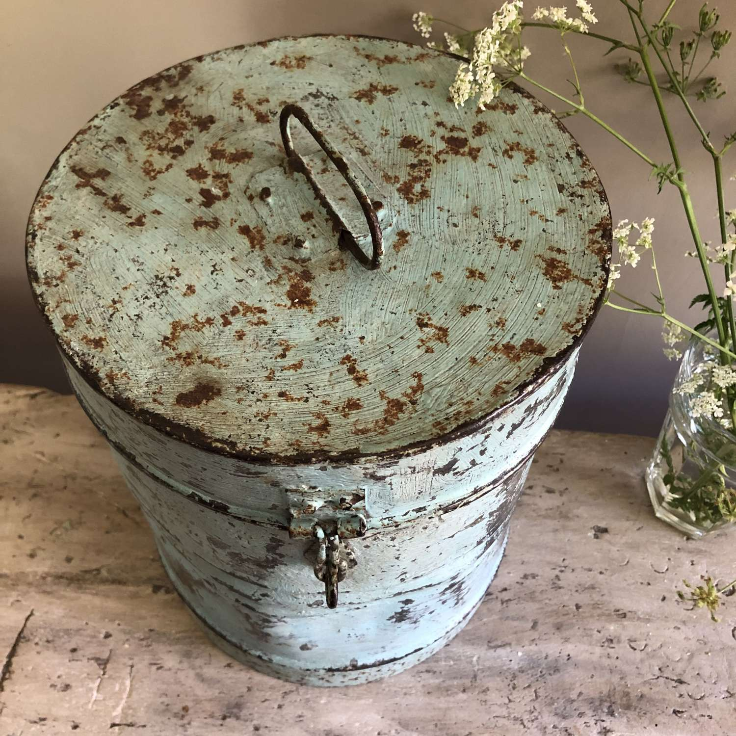 Antique Canister in original paint