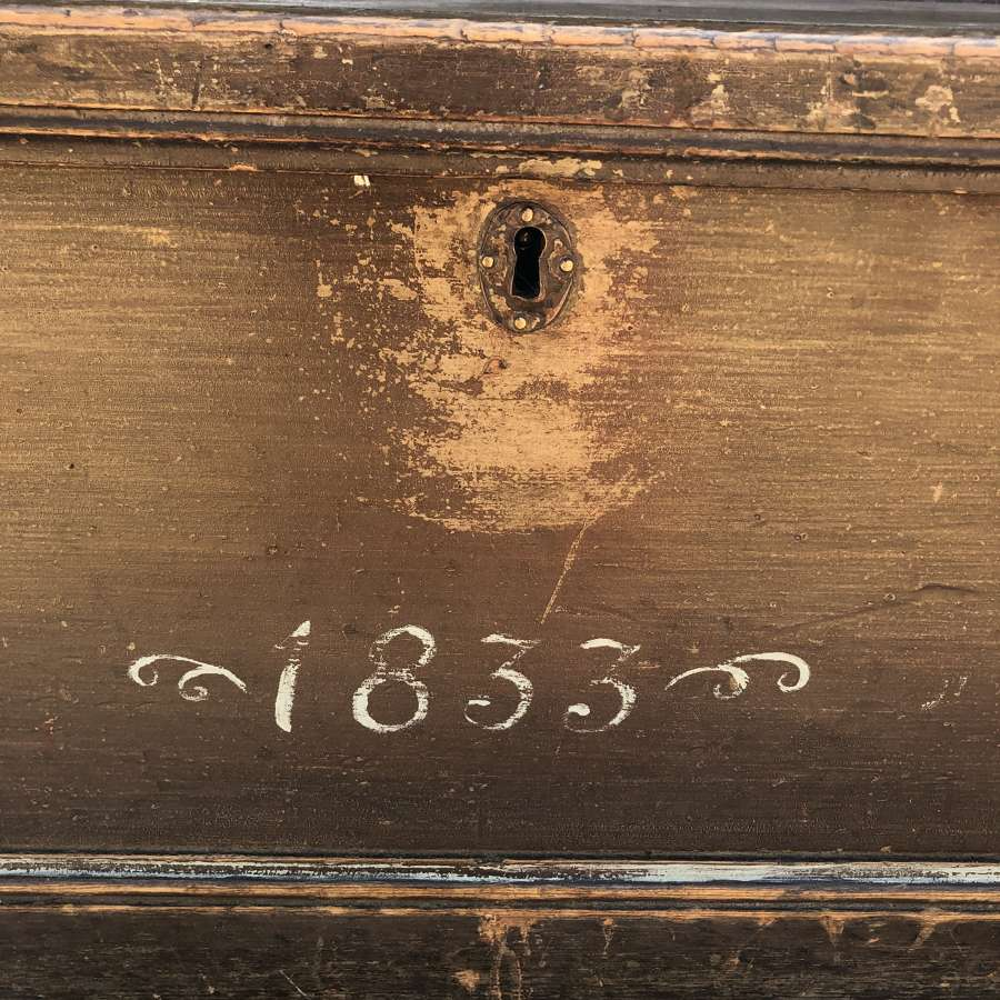 19th Cent Box in lovely old paint