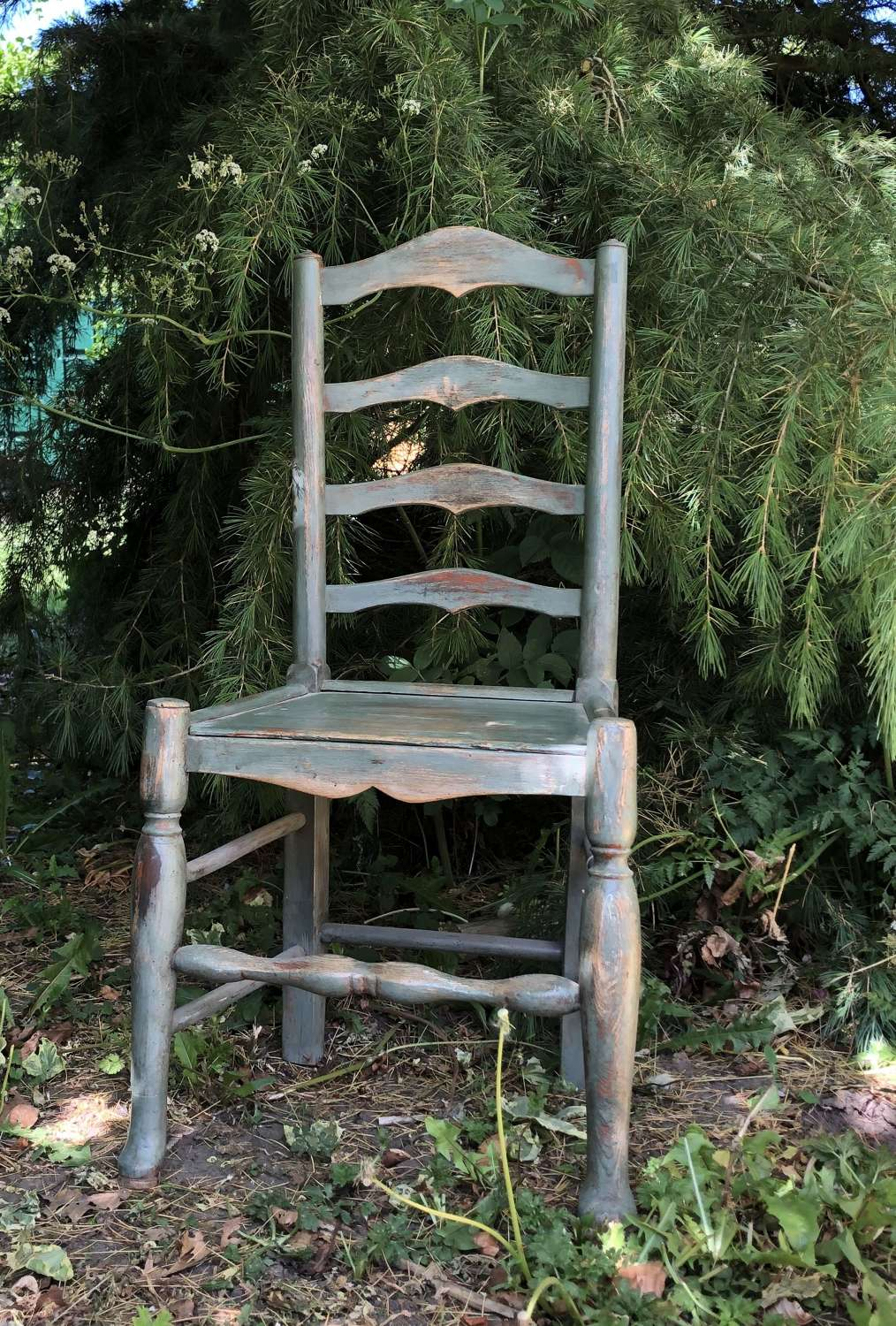 19th Cent Ladder Back Chair