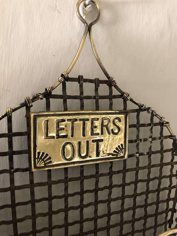 Edwardian Brass Wire Letter Rack