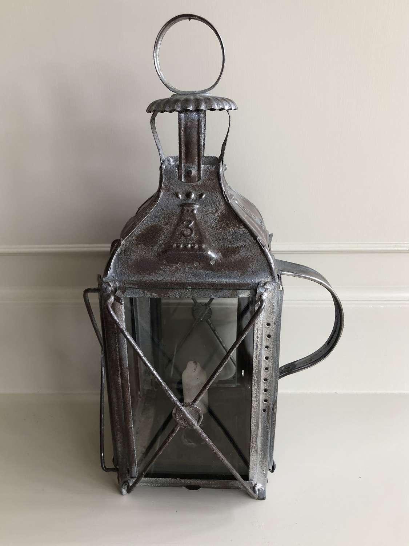 Vintage Farmhouse tin Lantern size 3