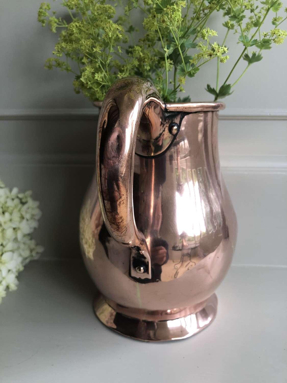 19th Cent English Copper Jug
