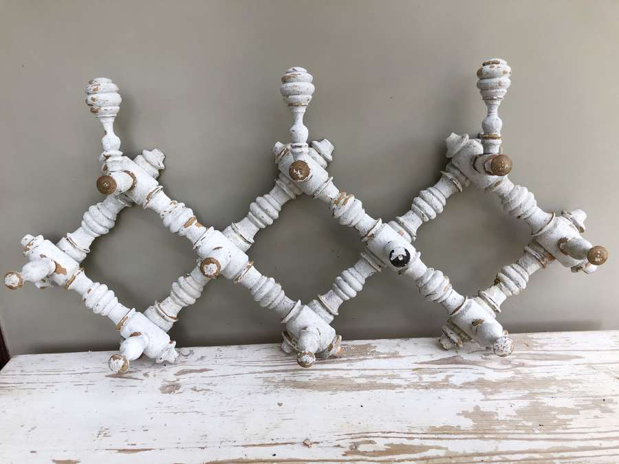 Antique Gatefold Coat Hook Rack