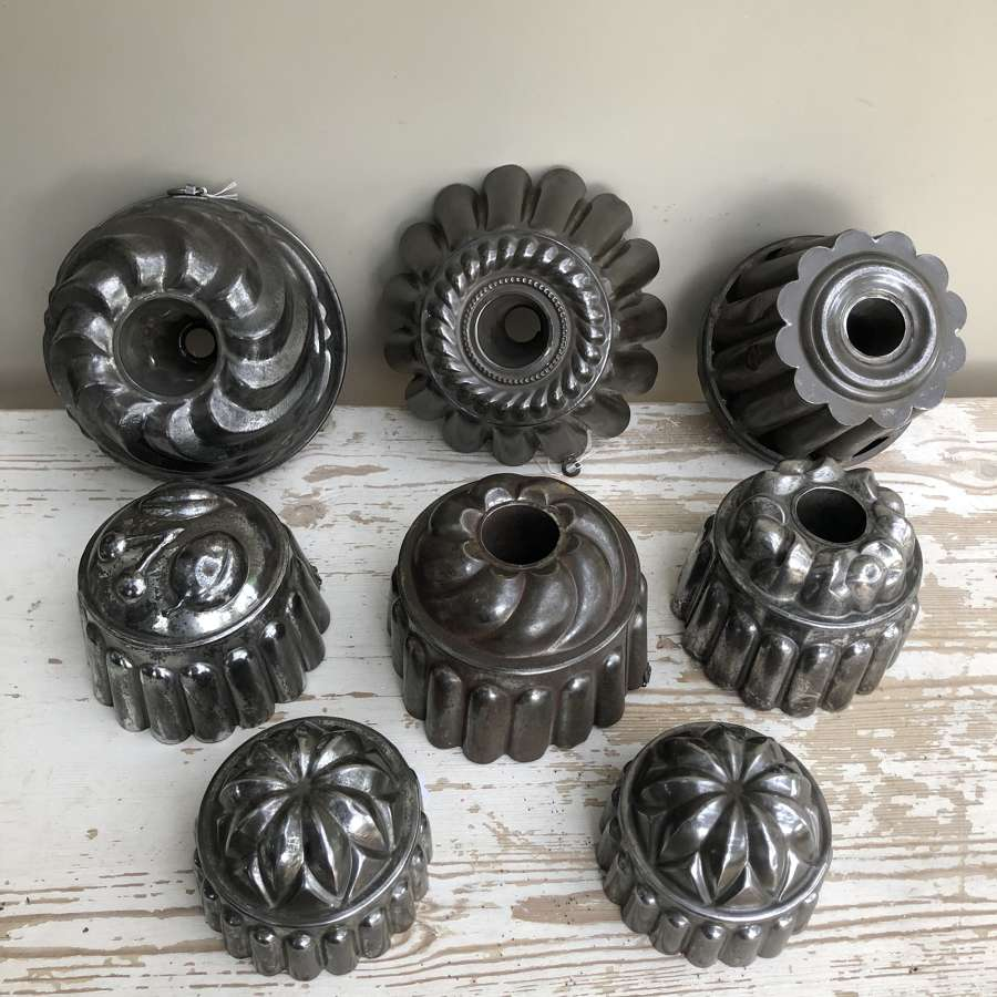 Vintage Tin Jelly Moulds
