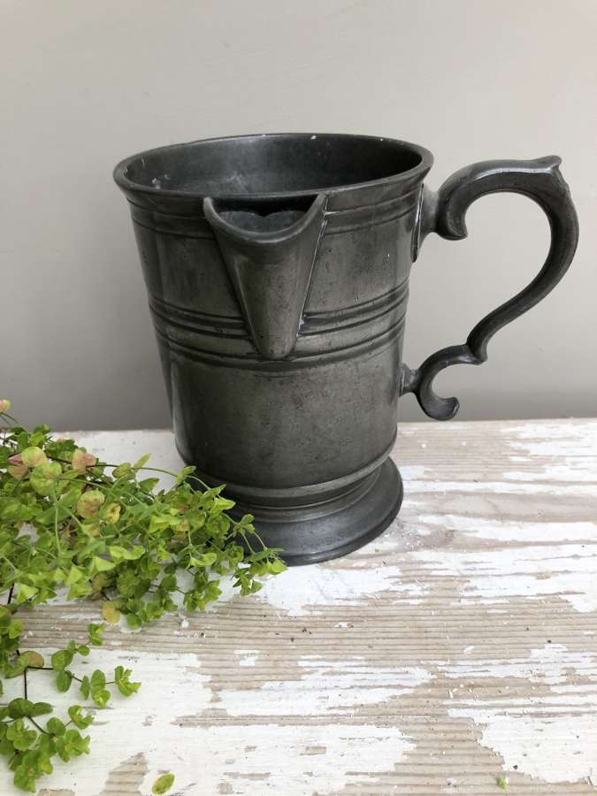 Early 19th Cent Pewter Pouring Jug