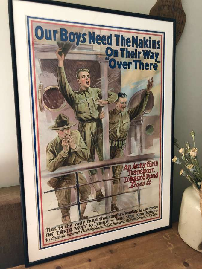 Original WW1 Poster advertising cigarettes