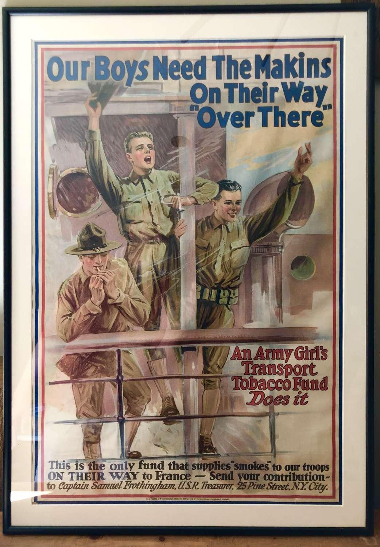 Original WW1 Poster advertising cigarettes