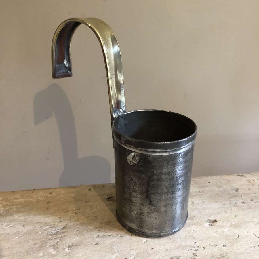 Quality 1/2 pint Cream Ladle with brass handle
